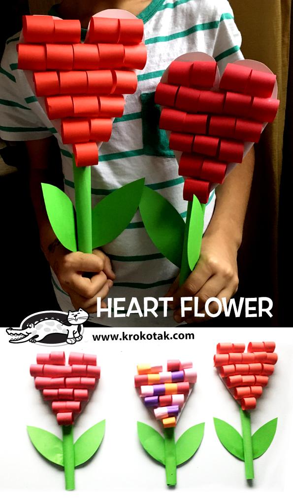 Srdíčková květina