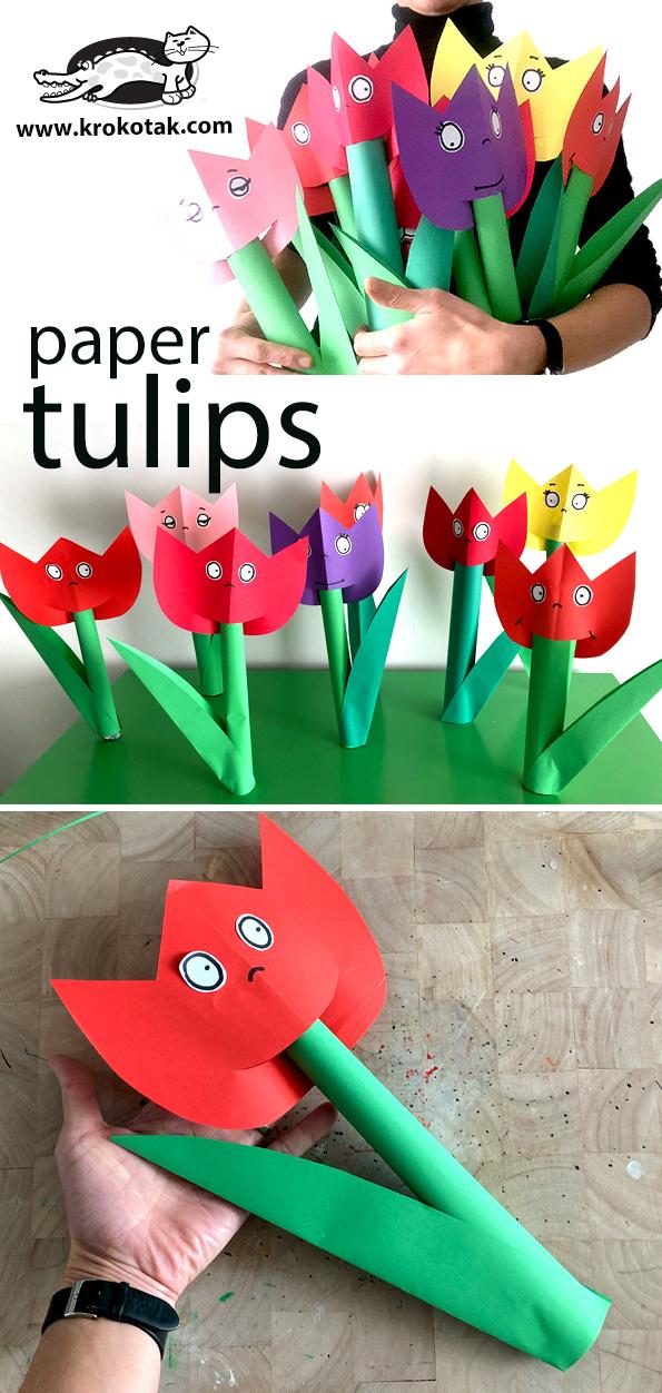 Papírové tulipány
